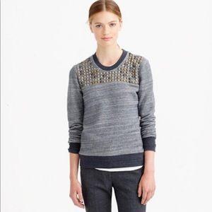 j Crew studded sweatshirt